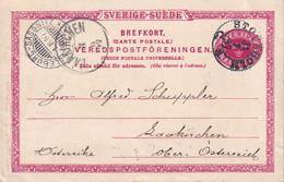SUEDE 1897   ENTIER POSTAL/GANZSACHE/POSTAL STATIONARY CARTE DE STOCKHOLM - Ganzsachen