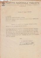 **  P.N.F.- FASCI DI COMBATTIMENTO DI FIRENZE.- ** - Documentos Históricos