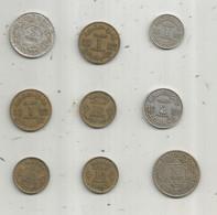 Monnaie , MAROC ,  Empire Chérifien,  1,2,5,10 Francs , 2 Scans , LOT DE 9 MONNAIES - Lots & Kiloware - Coins