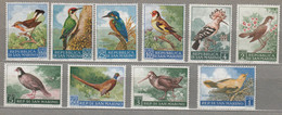 BIRDS SAN MARINO 1960 Mi 635-644 MNH (**) #22396 - Ohne Zuordnung