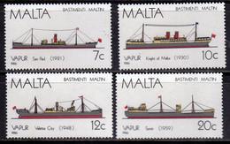 MALTA 1986 MALTESE SAILING SHIPS NAVI A VELA MALTESI COMPLETE SET SERIE COMPLETA MNH - Malta