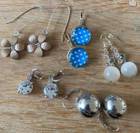 Sierjuwelen - 5 Paar Oorringen - Earrings