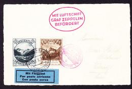 1930 Zeppelin Post, Karte Aus Triesenberg 10.X.1930 Nach Zürich. - Air Post