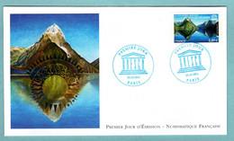 FDC France 2011 - UNESCO 2011 -  Milford Sound Nouvelle-Zélande - YT 152 - Paris - 2010-....