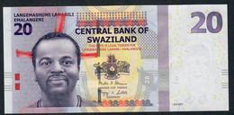 SWAZILAND ESWATINI P37c 20 EMALANGENI  2017 #AB    UNC. - Swaziland
