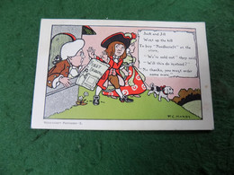 VINTAGE TOPICS NOVELTY: ADVERTISING Needlecraft Jack And Jill Went Up The Hill Art F C Hardy 1913 - Pubblicitari