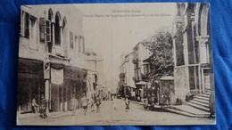 CPA BEYROUTH LIBAN BEYROUT VUE DE L EGLISE DES CAPUCINS ET LA GRANDE PLACE DE BAB EDRISSE 1929 - Libanon