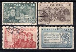 Tchécoslovaquie 1950 Mi 610-3 (Yv 528-31), Obliteré - Oblitérés
