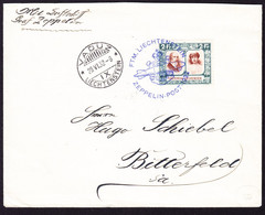 1932 Zeppelin Brief Aus Vaduz über Friedershafen Nach Bitterfeld. Mit 2 Fr Frankatur. - Air Post