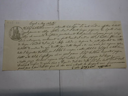 CAMBIALE  REGNO  --- EMPOLI  - FIRENZE  --  C. 30 FINO   L. 200 -- FILIGRANA -- VeC  -- 1866 - Bills Of Exchange