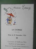 Menu 1936 Hôtel Du Grand Monarque à MELUN - Diner Pour La CHORALE - 77 SEINE ET MARNE - Belle Illustration - Menus