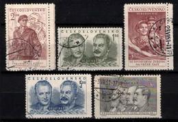 Tchécoslovaquie 1951 Mi 660-4 (Yv 573-7), Obliteré - Used Stamps