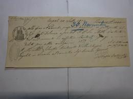 CAMBIALE  REGNO  ---  EMPOLI  --D.D.  C. 50 FINO   L. 1.000 -- FILIGRANA -- A.M.   -- 1870 - Bills Of Exchange