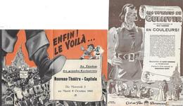 66) Programme De Cinéma Du  Nouveau Théâtre Capitole ( Place Cassanyes ) Pepignan Du Mercredi 3 Au Mardi 9 Octobre 1945 - Perpignan