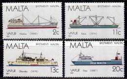 MALTA 1987 MALTESE SEALING SHIPS NAVI A VELA MALTESI COMPLETE SET SERIE COMPLETA MNH - Malta