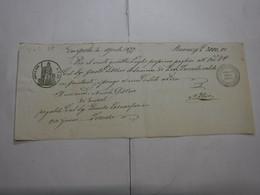 CAMBIALE  REGNO  ---  EMPOLI  - L.1.50 FINO   L. 3.000 -- FILIGRANA --VeC.  -- 1868 + AUMENTO 2/10 - Bills Of Exchange