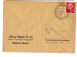 DEUTSCHE  BUNDESPOST 1957 Neckarelz - Briefe U. Dokumente