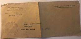 LSC De La 1ere Guerre Mondiale De L'Etat Major American Avec Rare Cachet Du Major De Zone Situé à Bourmont (52) WW1 - WW I