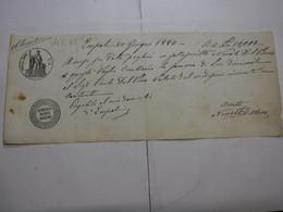 CAMBIALE  REGNO  ---  EMPOLI  -  L .5.00 FINO   L. 10.000 -- FILIGRANA -- VeC.   -- 1867 +  Aumento  2/10 - Bills Of Exchange