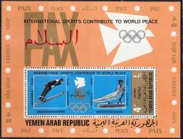1769 ✅ Sport Olympic Games Winter Gymnastic 1971 Yemen AR S/s MNH ** 12ME - Verano 1968: México