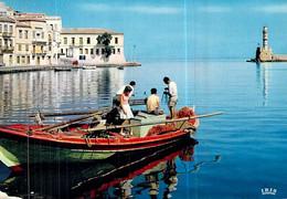 Cpsm Grèce Xania Le Port Le Phare Harbour And Light-house .der Hafen Und Der Leuchturm - Grèce