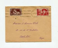 !!! LETTRE RECOMMANDEE DE CREIL DE 1938 POUR ST DIE, BEL AFFRANCHISSEMENT - 1921-1960: Modern Period