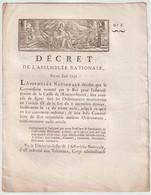 1791, Décret De L'Assemblée Nationale - Decrees & Laws