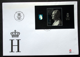 GREENLAND 2014  Prince Henrik 80th Birthday   Minr.674 Block 68  FDC    (lot 6473) - FDC