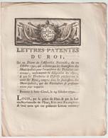 1790, Lettres Patentes Du Roi - Decrees & Laws