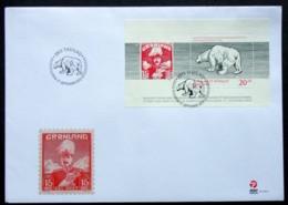 GREENLAND 2013  75th Anniversary Greenland Post (Polar Bear) Minr.647A   Block 63A FDC      (lot 6473) - FDC