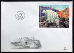 Greenland 2013 Fauna. Vulnerable Animals. Polar Bear Minr.639 BLOCK 62  FDC  Lot 6374 - FDC