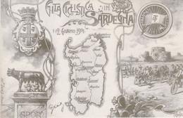 SARDEGNA - CARTOLINA - GITA CICLISTICA IN SARDEGNA - CARTOLINA RIPRODUZIONE - Other Cities