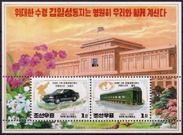 Corée Du Nord 1999 - Oblitéré - Kim Il Sung - Voitures - Trains - Michel Nr. Bloc 432 (prk1022) - Corée Du Nord