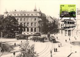 Maximumkarte 2020 Basler Tram, Jubiläum Strassenbahn Basel - Aeschenplatz Um Jh-Wende - Maximumkarten (MC)