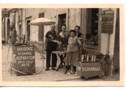 Menton 1951 Photo 5.5x9cm - Garage Automobile - 41 Quai Bonaparte Moto-velo Auto - Coches
