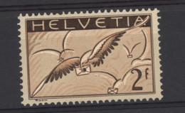 0ch  0718 -  Avion  -  Suisse  :  Mi  245z   Yv  15  *   Gaufré - Nuevos