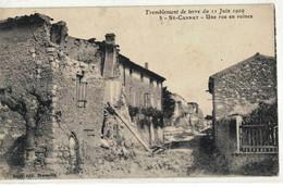 CPA   SAINT - CANNAT  Une Rue En Ruines , Tremblement De Terre Du 11 Juin 1909,  N° 5 - Other Municipalities