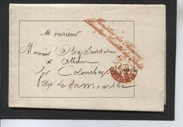 Lettre De PARIS (Direction Générale Des Postes) à ALLAIN (54) Pour Le Transport D'un Ouvrage - 1870 - 1849-1876: Periodo Clásico