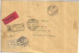 POLONIA A ALEMANIA 1939 EXPRES CERTIFICADA KRAKOW SELLO KOSCIUSZKO INDEPENDENCIA USA BERLIN BAHNPOST - Briefe U. Dokumente