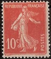 France Maury 138 IA N (Yvert ) ** Semeuse Camée 10c Sur Papier GC - Curiosities: 1900-20 Mint/hinged