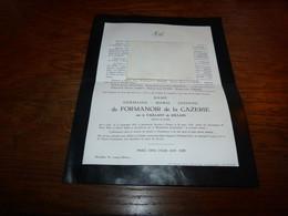 Lettre De Mort Germaine Le Vaillant De Jollain De Formanoir De La Cazerie Lille 1881 Forest 1959Templeuve - Todesanzeige