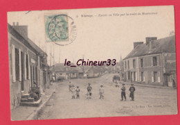 72 - VIBRAYE---Entrée En Ville Par La Route De Montmirail-----animé - Vibraye