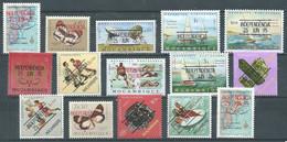 Mozambique YT N°575/589 Timbres Surchargés Independencia 25 Jun 75 Neuf ** - Mozambique