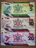 Trinidad And Tobago 5-10-20 Dollars, (2020), Polymer, UNC - Trinité & Tobago