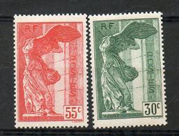 N° 354/5* AVEC CHARNIERE COTE 170 E PRIX DEPART 10 E - Unused Stamps