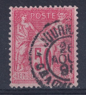 """OBLITERATION CAD """" JOURNAUX / CHAUMONT """" De 1898? Sur SAGE 50c N° 98 OBLITÉRÉ - 1876-1898 Sage (Tipo II)"""