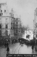 BESANCON - Carte-photo, Hôtel Des Bains, Le 21 Janvier 1910. Cliché Bévalot. Non Circulée. Cachet Postal Du 21-01-1910. - Besancon