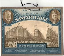 PUBLICITE MAGASIN : PLAQUE CARTON PUBLICITAIRE ILLUSTREE PAR VILA EN 1929 DEUX CREATEURS UNE OEUVRE LA SAMARITAINE - Targhe Di Cartone