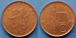"""CZECH REPUBLIC - 10 Korun 1993 """"Brno Cathedral"""" KM# 4 Republic Since 1993 - Edelweiss Coins - Czech Republic"""