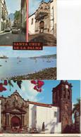Canaries - La Palma - Lot 2 Cartes Santa Cruz De La Palma - 1 Neuve, 1 écrite Et Timbrée - La Palma